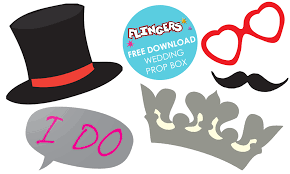 wedding photo booth props flingers party shop free wedding photo booth props