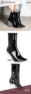 womens boots size 9 5 narrow perspex clear boot heels ego uk store ego uk clear
