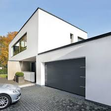 decorations side sliding garage doors in the modern house with