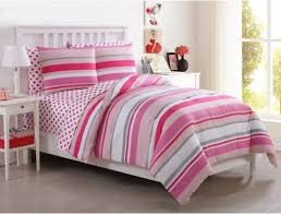 Girls Striped Bedding by Twin Size Pink White Gray Comforter And Sheet Set Girls Striped