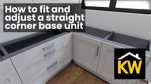 how to fit howdens corner fillet how to fit a corner base unit kitchen warehouse