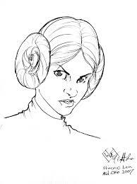 princess leia head sketch by comfortlove on deviantart