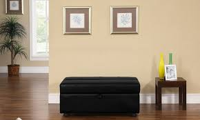 bonded leather sleeper ottoman groupon goods