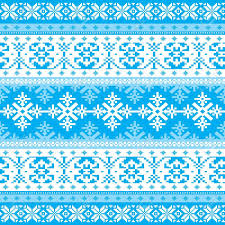 traditional knitted ornamental winter background with