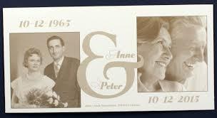einladungskarten goldene hochzeit mit foto blankokarte cremeweiß metallic als beispiel einladungskarte zur