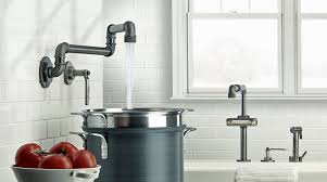industrial kitchen faucet customizable industrial style faucet design from watermark kitchen