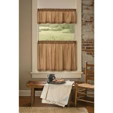 heritage lace homespun 53 in l polyester valance in natural hs