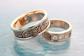 wedding ban artistic pattern wedding bands the wedding specialiststhe