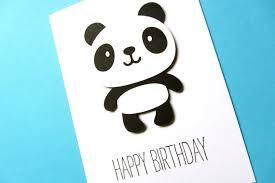 panda birthday card cute birthday kid birthday kawaii