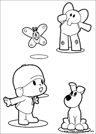 Pocoyo coloring pages on ColoringBookinfo