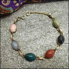 vintage jewelry bracelet images 12kt gf gem scarab bracelet 1950s vintage jewelry jpg