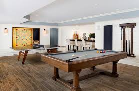 Ping Pong Pool Table Game Room With Pool Table And Ping Pong Table Contemporary