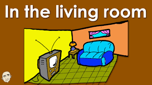 The Livingroom In The Living Room Actions Easy English Conversation Practice