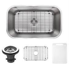 Non Scratch Kitchen Sinks by Kraus Undermount Stainless Steel 32 In Single Basin Kitchen Sink