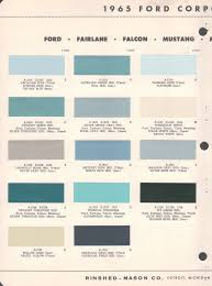 paint chips 1965 fairlane falcon mustang mercury comet thunderbird