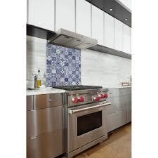 mosaique cuisine pas cher acheter fond de hotte cuisine adhésif carreaux mosaïque bleu