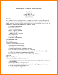 exle of resume for 11 administrative assistant objective exles time table chart