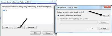 change drive letter in windows for an external usb device