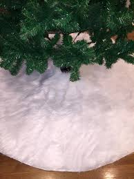 white tree skirt tree skirt faux fur tree