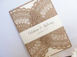 rustic invitations laser cut wedding invitation