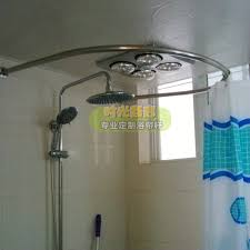 round shower curtain rod corner shower curtain rod 36 x 36 image