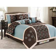 Blue And Brown Bedroom Set Blowout Bedding Amber Blue Brown Cream Oversize Queen Piece