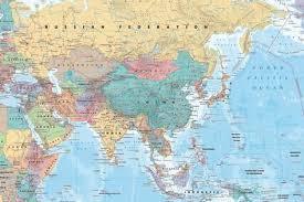 map middle east uk middle east and asia map prints allposters co uk