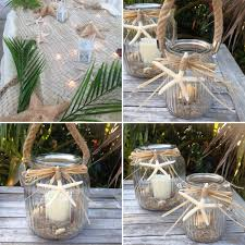 starfish decorations coastal glass lantern wedding decorations starfish