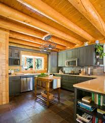 portland maine knotty pine ceiling home office transitional with