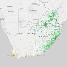 Population Map Dot Map Of South Africa