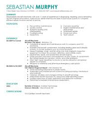 Different Types Of Resumes Examples by Best Aircraft Mechanic Resume Example Livecareer