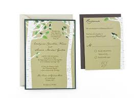 wedding invitation sles birch trees free wedding invitation template