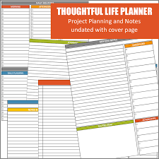 free printable life planner 2015 thoughtful life planner project and notes pages home management