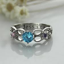 wholesale secret message infinity ring engraved birthstone ring