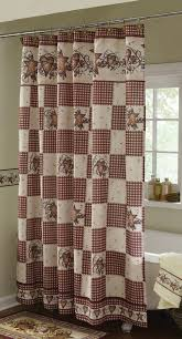 country shower curtain sets double swag bathroom shower curtain