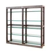 Metal Bookcases Bradley Octagon Shelf Contemporary Transitional Mid Century