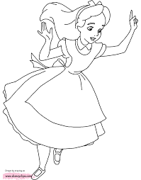 alice in wonderland coloring pages disney coloring book