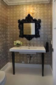 Uttermost Mirror Uttermost Mirrors Powder Room Victorian With Baseboards Bathroom