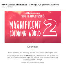 chicago invite chance the rapper invites soundcloud followers to coloring world 2
