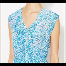 Blue Leopard Print 83 Off Sandro Dresses U0026 Skirts Sandro Blue Leopard Print Dress