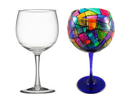india n design inditerrain diy painted wine glasses