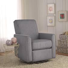 zoey grey nursery swivel glider recliner chair overstock