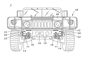 humvee side view patent us7090267 universal heavy duty front bumper and mounting
