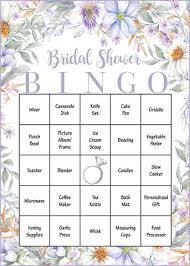 bridal shower gift bingo purple floral bridal shower wedding shower celebrate crafts