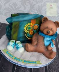baby shower diaper bag cake and teddy bear cake cakecentral com