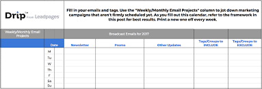 how to make and simplify your email marketing calendar