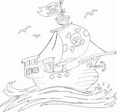 pirate ship coloring coloring