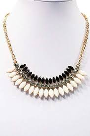 statement necklace white images Black and white statement necklace aphrodite store jpg