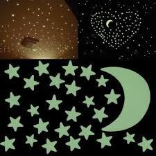 etoiles phosphorescentes plafond chambre autocollant sticker mural étoiles phosphorescent mur stickers muraux
