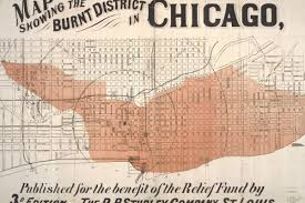 Map Chicago Interactive Map Layers Pre Fire Chicago Over Modern City Curbed